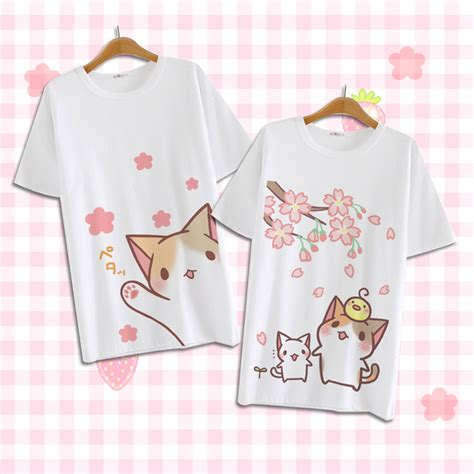 Yakult Kawaii Japanese Harajuku Tshirt kawaii cat t shirt 183 fashion kawaii japan