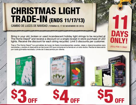 home depot christmas light trade in offer my frugal