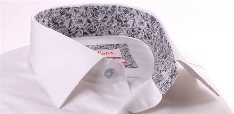 pattern for french cuff white french cuff shirt with grey pattern collar and cuffs