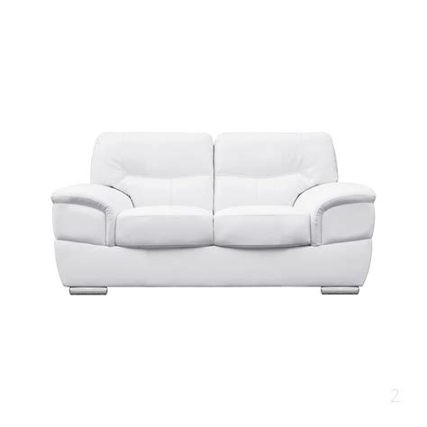 2 seater leather settee barletta italian inpired white leather sofa collection