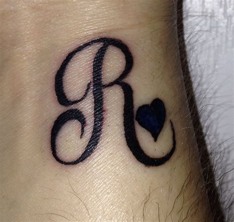 ricky tattoo my r initial for my ricky