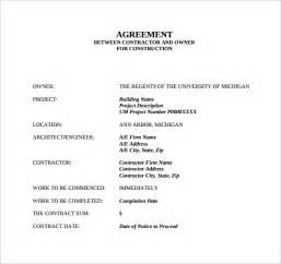 contract template doc sle contract agreement 7 free documents in