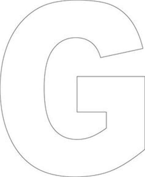 large printable letter g free printable football stencils clipart best