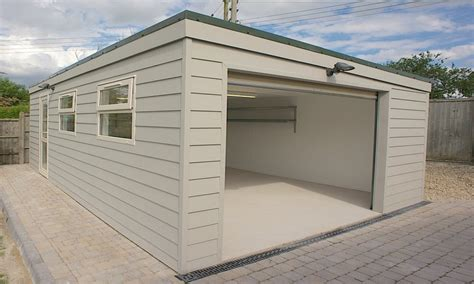Flat Roof Garage Plans by Prefab Garden Buildings Prefab Flat Roof Garage Sloped