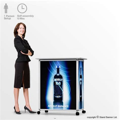 Frame Stand Pop Up Framestand Promo Toko Uk A3 wheeled promotional counter mobile promotions stand
