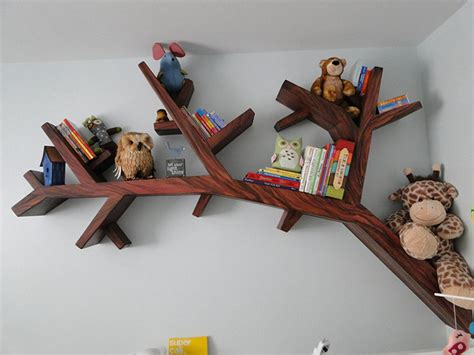 tree branch bookshelf bored panda