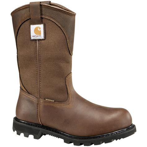 mens carhartt boots s carhartt 174 11 quot waterproof wellington work boots