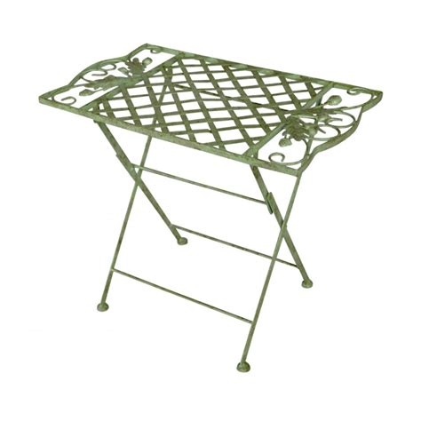 wrought iron folding table folding table for in wrought iron collection quot oak quot