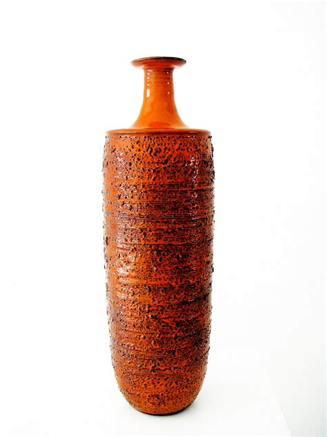 Orange Vase Wouter Harvey Large Orange Vase By Keramar Bruges 1960 S