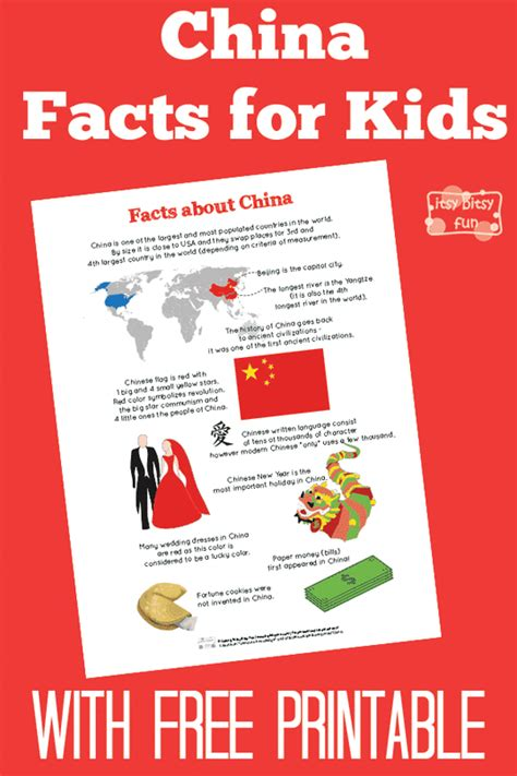 fun china facts for kids free printables china and free