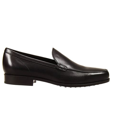rubber soled loafers tod s shoes loafer rubber sole brushed leather in black