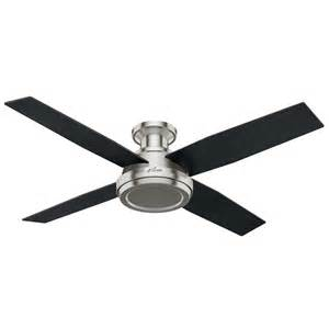 Flush Mount Ceiling Fan With Remote Shop Dempsey 52 In Brushed Nickel Flush Mount