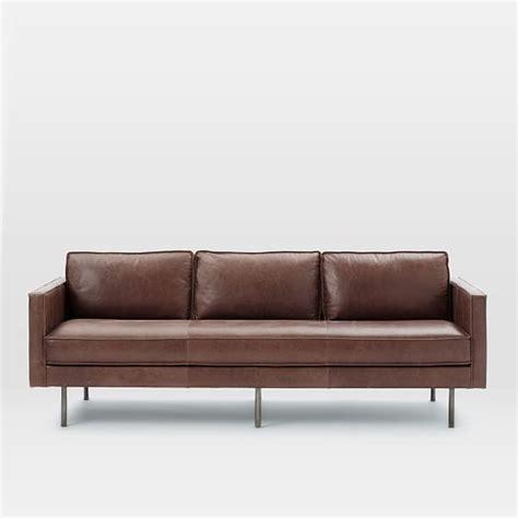 west elm axel sofa review axel leather sofa 89 quot west elm