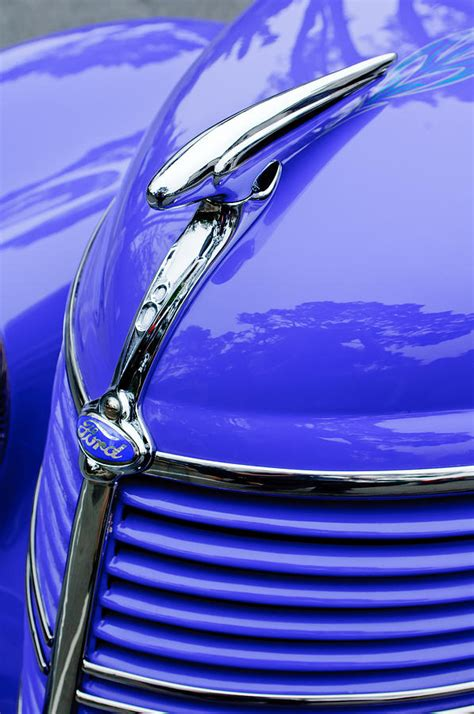 Metal Ornaments Home Decor by 1938 Ford Hood Ornament Photograph By Jill Reger