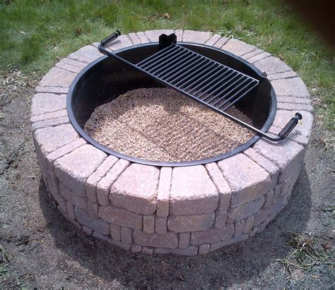 pit steel ring insert steel insert for ring pit fireplace design ideas