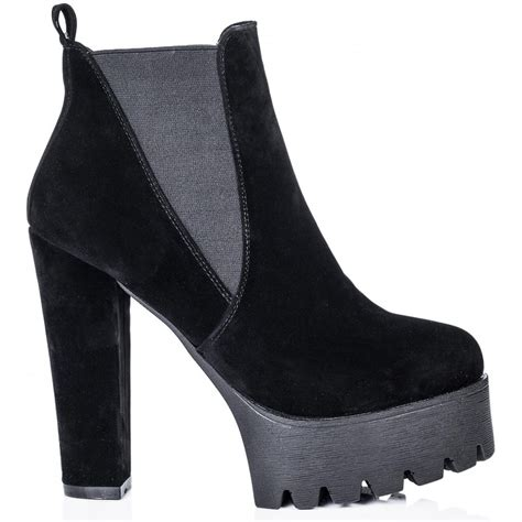 buy jolt cleated sole platform chelsea ankle boots black
