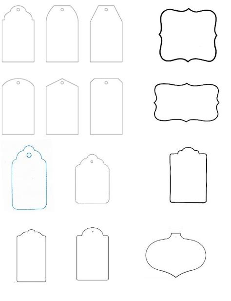 favor tag template free printable blank gift tags clipart best