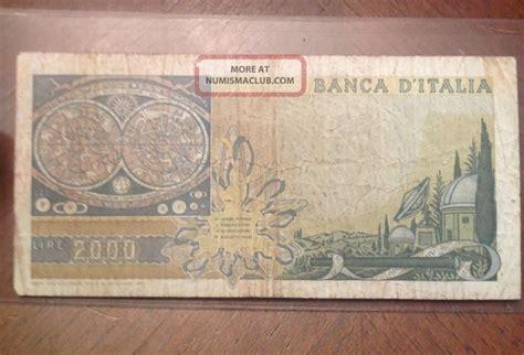 banca d europa italy 2000 lire 1973 banca d italia duemila lire