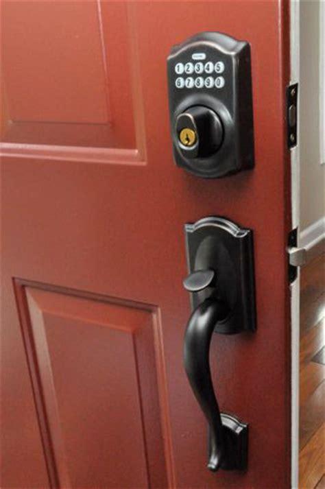 keypad lock for front door front door keypads schlage vs kwikset one project closer