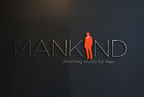 design for mankind mankind 3d corporate logo elegant clean design idea