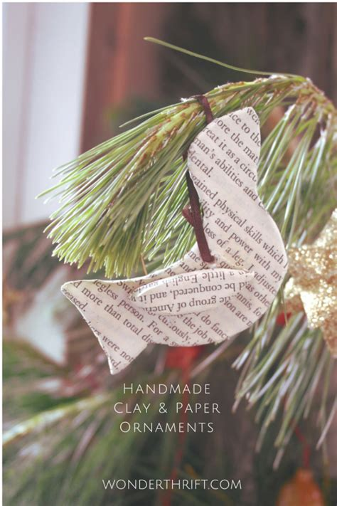 Paper Decorations To Make At Home by Thrifty Home Handmade Clay And Paper Bird Ornaments