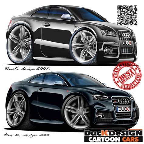 cartoon audi duc k design cartoon cars
