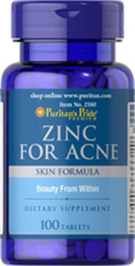 supplement zinc acne zinc for acne 100 tablets supplements puritan s