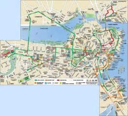 Boston Tram Map by Old Town Trolley Tour In Boston Peek