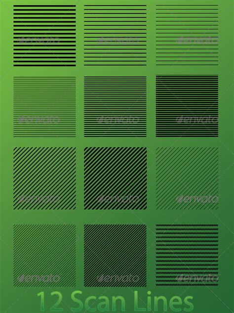 scan line pattern photoshop scan lines graphicriver