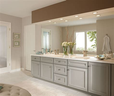 gray bathroom cabinets kemper cabinetry