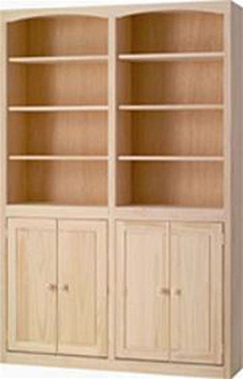 Wide Bookshelf With Doors 48 Quot Wide Archbold Arched Bookcase With Doors