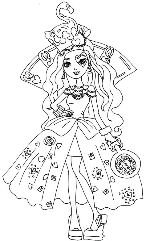 coloring page ever after high free printable ever after high coloring pages lizzie