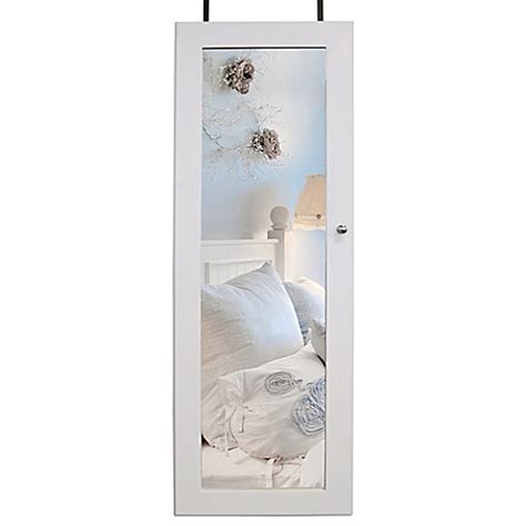 the door jewelry cabinet the door jewelry cabinet in white bed bath beyond