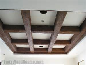 Coffered Ceiling Beams 3 Heavily Distressed Wood Beams Faux Wood Workshop