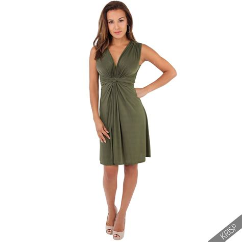front drape dress ruched drape twist knot front mini dress tie belted party
