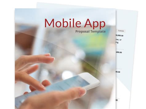 mobile app development template free business templates