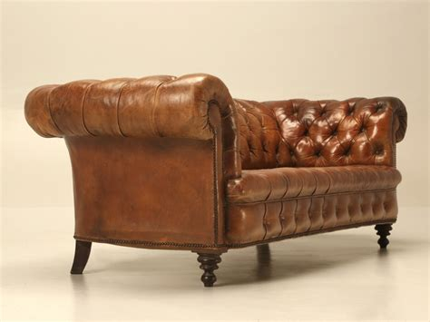 Antique Leather Chesterfield Sofa Antique Leather Chesterfield Sofa In Original Leather For Sale Leather Club Chairs
