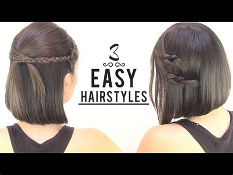 how to make beautiful hairstyles at home youtube easy hairstyles for short hair youtube