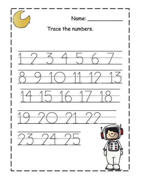 free printable kindergarten numbers kindergarten tracing numbers 1 20 early childhood