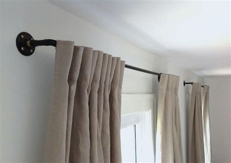 Diy Draperies stylish diy curtain rods ideas on budget