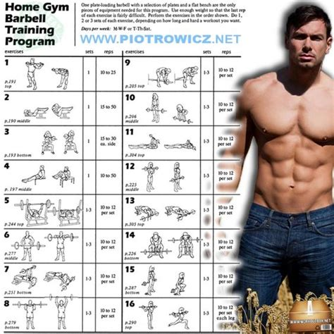 home gym workout plan great barbell strength training program home gym barbell
