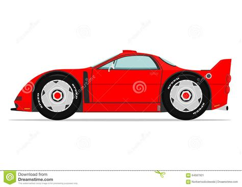 cartoon sports car cartoon sports car stock vector image 64587921