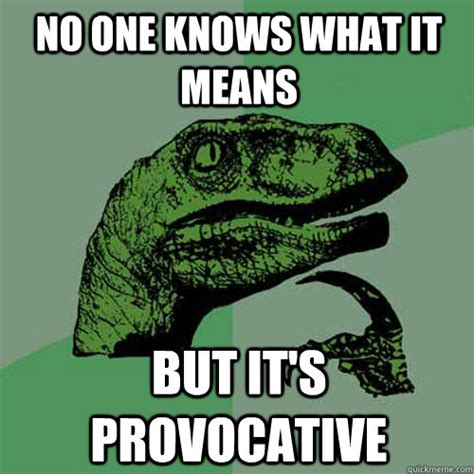 Provocative Memes - no one knows what it means but it s provocative