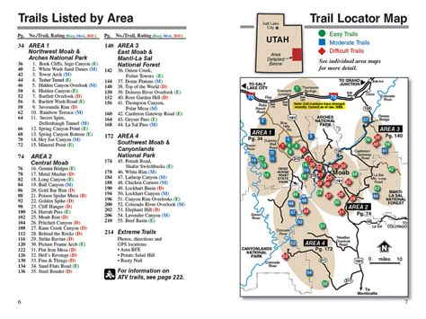 moab jeep trails map moab ut backroads 4 wheel drive trails