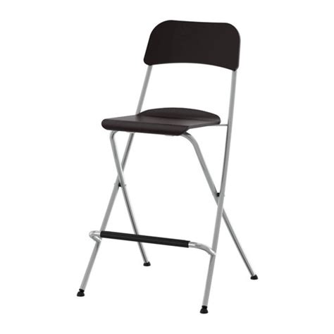 Ikea Folding Stool | franklin bar stool with backrest foldable 24 3 4 quot ikea