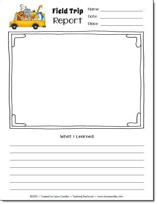 field trip report template field trip report freebie from candler everything