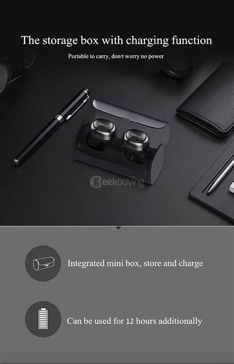 Jual Qcy Q29 Bluetooth 4 1 Headphones Wireless Earbuds W Charging Bo qcy q29 mini wireless bluetooth 4 1 dual earphones with