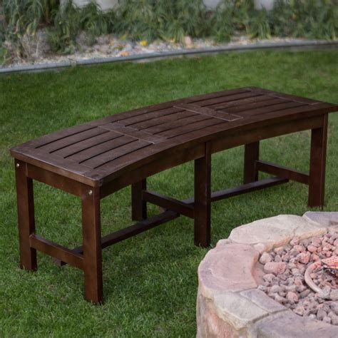 wooden fire pit bench coral coast cabos curved backless fire pit bench java