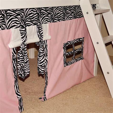 maxtrix bunk or loft bed w pink zebra print playhouse