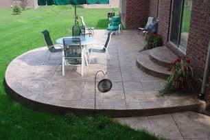 Backyard Concrete Patio Designs Triyae All Cement Backyard Ideas Various Design
